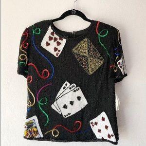 Vintage Sequin Casino Shirt